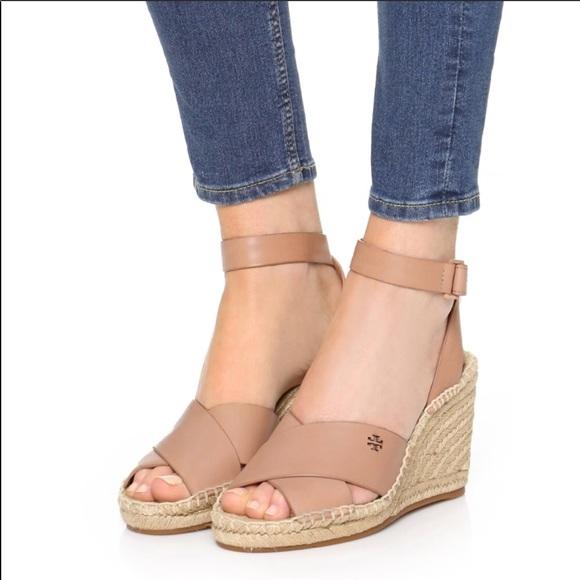 c5f7441e1 Tory Burch Bima Wedge Espadrille Sandals Size 9.5.  M 5b6f4619d6716a3eed30f891